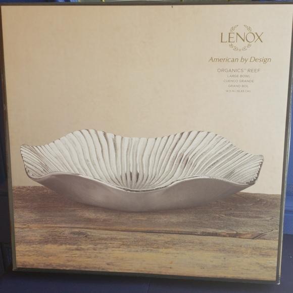 Lenox Organics Reef Metallic Bowl Large
